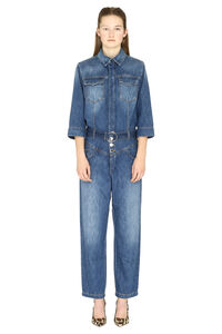 Zena long denim jumpsuit, Full Length jumpsuits Pinko woman