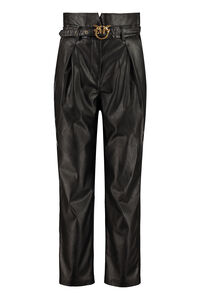 Aurelio faux leather trousers, Tapered pants Pinko woman