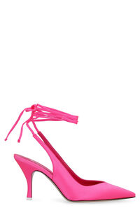 Satin pointy-toe slingback pumps, High Heels The Attico woman