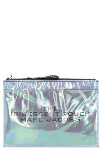 Iridescent PVC flat pouch, Pouches Marc Jacobs woman