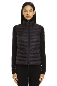 Cardigan with front padded panel, Cardigan Moncler woman
