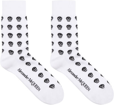 Logo cotton blend socks