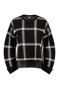 Checked crew-neck pullover, Crew neck sweaters Stella McCartney woman