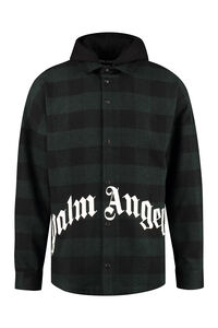 Hooded plaid overshirt, Overcoats Palm Angels man
