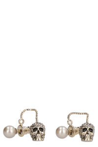 Earrings with pearl and skull, Earrings Alexander McQueen woman