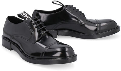Leather lace-up derby shoes
