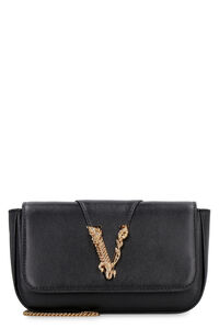 Virtus leather mini-bag, Clutch Versace woman