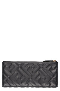 All-over logo printed leather wallet, Wallets Fendi woman