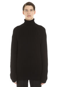 Bovaro cotton turtleneck sweater, Turtleneck BOSS man