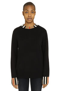 Crew-neck cashmere sweater, Crew neck sweaters Burberry woman