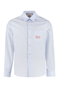 Front buttons cotton shirt, Plain Shirts Gucci man