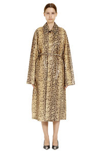 Snakeskin print leather coat, Leather Jackets Bottega Veneta woman