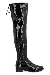 Cuissard Lowland in vinile, Stivali over-the-knee Stuart Weitzman woman