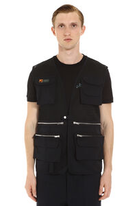 Mesh fabric vest, Gilets Palm Angels man