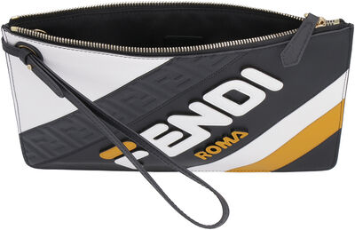 Fendi-Mania logo leather pouch