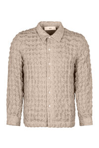 Ripley long sleeve wool shirt, Plain Shirts Séfr man