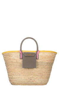 Soleil raffia big handbag, Top handle Jacquemus woman