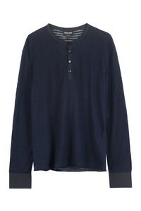 Silk-linen blend sweater, Crew necks sweaters Giorgio Armani man