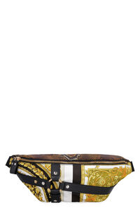 Printed techno fabric belt bag, Beltbag Versace man
