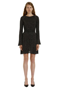 Tentoni ribbed lurex knit dress, Mini dresses Pinko woman