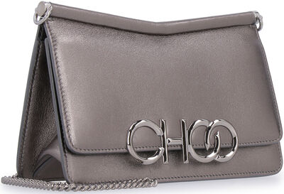 Sidney metallic leather shoulder bag