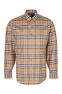 Check motif cotton shirt, Checked Shirts Burberry man