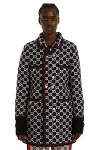 GG motif tweed coat, Double Breasted Gucci woman