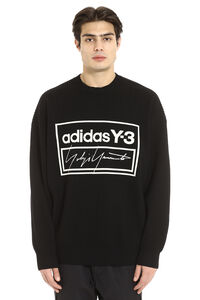 Intarsia wool sweater, Crew necks sweaters Adidas Y-3 man