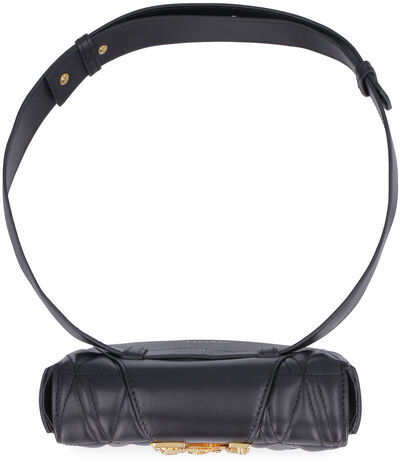 Quilted leather belt bag