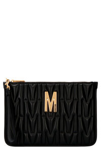 Leather clutch, Clutch Moschino woman