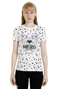T-shirt Dots Tiger in cotone con stampa, T-shirt Kenzo woman