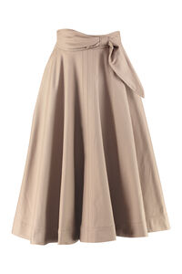 Cotton linen blend full skirt, Midi skirts MSGM woman