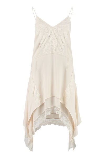 Gift lace details slip dress