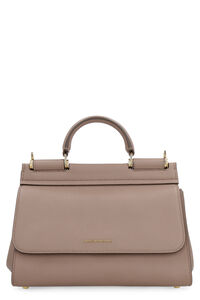 Sicily Soft pebbled leather handbag, Top handle Dolce & Gabbana woman