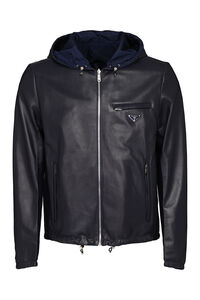 Reversible leather jacket, Leather jackets Prada man