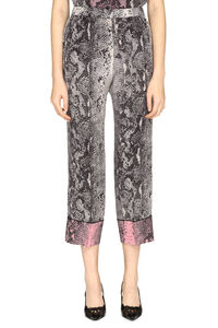 Printed silk pants, Wide leg pants N°21 woman