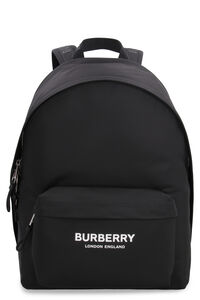 Logo print nylon backpack, Backpack Burberry man