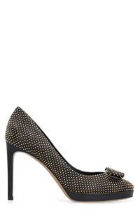 Studded leather pumps, Platforms Salvatore Ferragamo woman