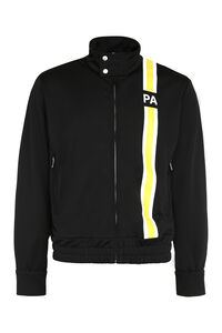 Techno fabric full-zip sweatshirt, Zip through Palm Angels man