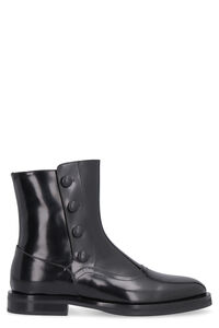 Leather ankle boots, Flat Boots Alexander McQueen woman
