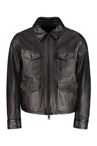 Lambskin jacket, Leather jackets AMI man