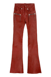 Vintage leather flared trousers, Leather pants Unravel Project woman
