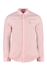 Slim fit cotton shirt, Plain Shirts Tommy Jeans man