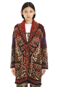 Jacquard knit coat, Casual Jackets Etro woman