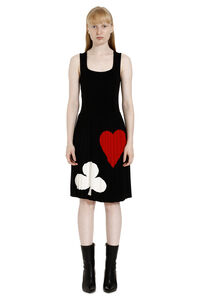 Intarsia knit-dress, Knee Lenght Dresses Boutique Moschino woman