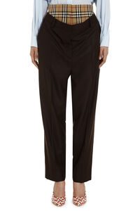 Wool trousers, Tapered pants Burberry woman