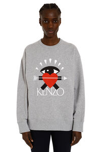 Cotton sweatshirt with 'Eye Love' embroidery, Sweatshirts Kenzo woman