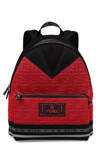 Technical fabric backpack with logo, Backpack Fendi man