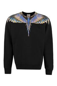 Felpa girocollo in cotone, Felpe Marcelo Burlon County of Milan man