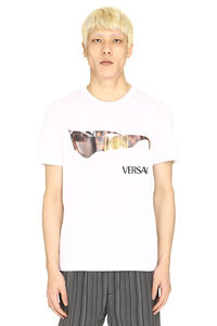 Printed cotton T-shirt, Short sleeve t-shirts Versace man